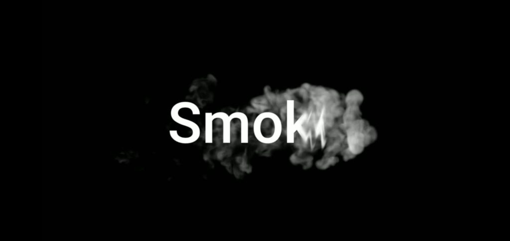How To Make Smoke Text Reveal Animation Intro In Kinemaster