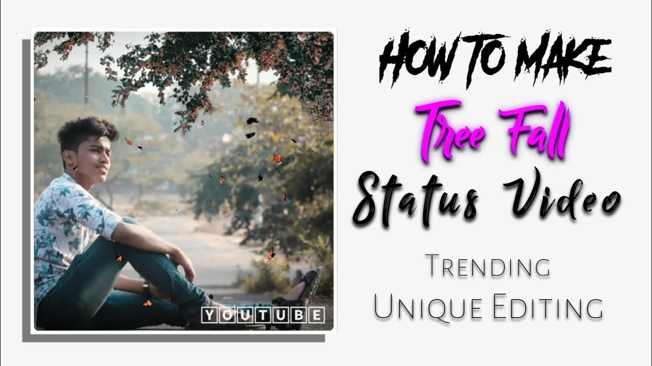 How To Make #TreeFall (Square Size) WhatsApp Status || In Kinemaster