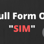 What is the full form of SIM information