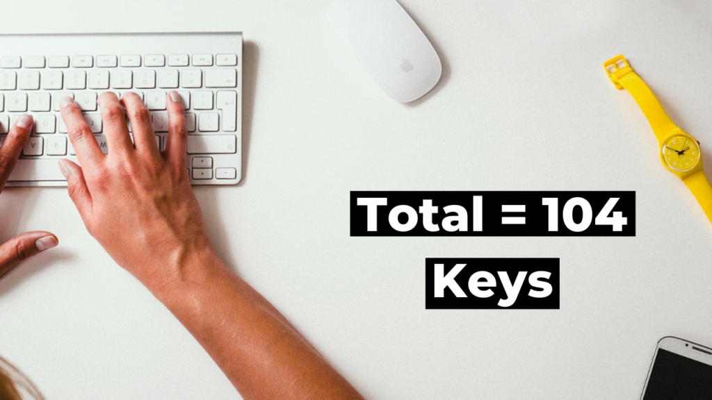 How many keys on a keyboard?